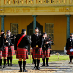 Nelson Mandela Artillery Pipes and Drums ready to play