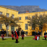Nelson Mandela Artillery in formation in the Castle of Good Hope's grounds